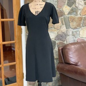 Sandra Angelozzi black sheath dress size L